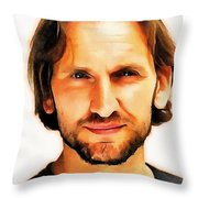 Christopher Eccleston Throw Pillow
