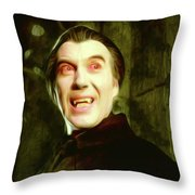 Christopher Lee, Dracula Throw Pillow
