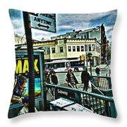 Christopher Street Greenwich Village  Throw Pillow