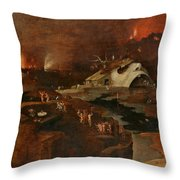 Christ's Descent Into Hell Throw Pillow