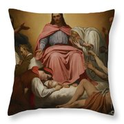 Christus Consolator Throw Pillow by Ary Scheffer