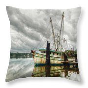Christy Lynn On Bon Secour Throw Pillow by Michael Thomas
