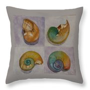 Chromasnail Throw Pillow