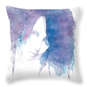 Chromatic Girl Throw Pillow