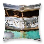 Chrome Chevrolet Throw Pillow
