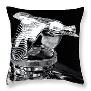 Chrome In Flight Throw Pillow