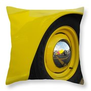 Chrome Mirror Throw Pillow