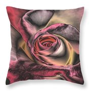 Chrome Rose 368 Throw Pillow by Brian Gryphon