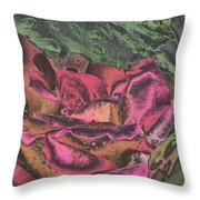 Chrome Rose 64182 Throw Pillow by Brian Gryphon