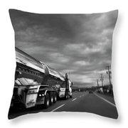 Chrome Tanker Throw Pillow