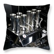 Chromed Fuel Injection Throw Pillow