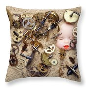Chronos - God Of Time Throw Pillow