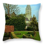 Church Garden Throw Pillow