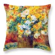Chrysan The Mums 1882 Throw Pillow