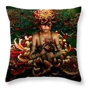 Chrysanthemum Bouquet 004 Throw Pillow