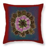 Chrysanthemum Mandala Throw Pillow