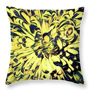 Chrysanthemum Pop Throw Pillow