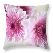 Chrysanthemums #009 Throw Pillow