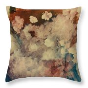 Chrysanthemums Throw Pillow by Gregory Dallum