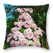 Chrysanths Throw Pillow