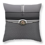 Chrysler 300 Logo And Grill Throw Pillow
