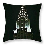 Chrysler Building In Manhattan New York City Throw Pillow
