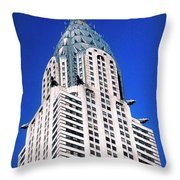 Chrysler Building Throw Pillow
