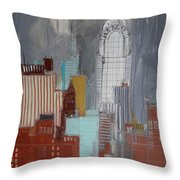 Chrysler Building, New York Throw Pillow