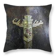 Chrysler Hood Ornament Throw Pillow
