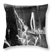 Chrysler Imperial Emblem - Bw Throw Pillow