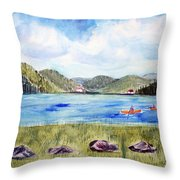 Chrystal Lake  Barton Vt  Throw Pillow