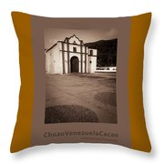 Chuao Cocoa Cacao Venezuela Throw Pillow