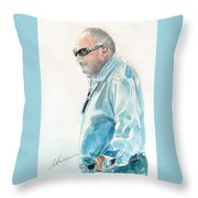 Chubby Chandler Watercolor Throw Pillow