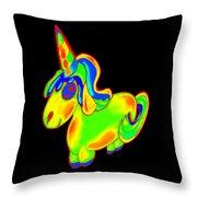 Chubby Silly Unicorn1 Throw Pillow