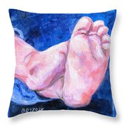 Chubby Toes Throw Pillow