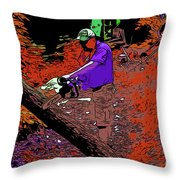 Chuck Chainsaw 2 Throw Pillow