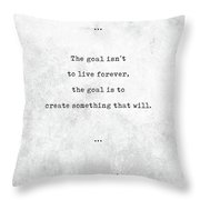 Chuck Palahniuk Quotes - Literary Quotes - Book Lover Gifts - Typewriter Quotes Throw Pillow