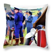 Chucks Away Ww2 Duxford Throw Pillow
