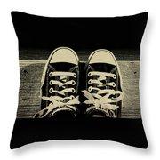 Vintage Chucks  Throw Pillow