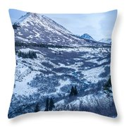 Chugach In Winter Twilight Throw Pillow