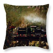 Chugging Across The Devil's Gate Throw Pillow