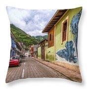 Chunchi Street Throw Pillow