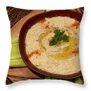 Chunky Mutabbal For Dinner Throw Pillow