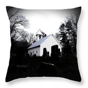 Church And Cemetary- Lens Throw Pillow