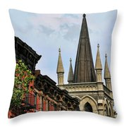 Church Architecture Older Nyc  Throw Pillow