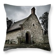 Church At Castle Frankenstein Throw Pillow