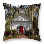Church At Micanopy Throw Pillow