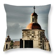 Church Bell Tower, Old Havana Throw Pillow