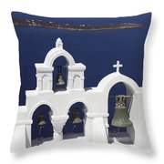 Church Bells And The Sea Throw Pillow