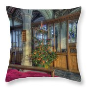 Church Christmas Tree Throw Pillow